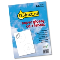 123inkt Super Glossy CD Labels 2 per vel diagonaal (20 labels)  060050