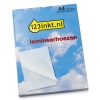 123inkt document lamineerhoes A4 glanzend 2x125 micron (100 stuks)