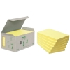 3M Post-it gerecyclede notes mini toren geel 76 x 127 mm (6 pack) 655-1B 201394
