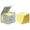 3M Post-it gerecyclede notes mini toren geel 76 x 76 mm (6 pack) 654-1B 201388
