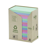 3M Post-it gerecyclede notes toren gekleurd 76 x 127 mm (16 pack) 655-1RPT 201398