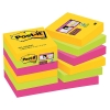 3M Post-it super sticky notes Rio 47,6 x 47,6 mm (12 pack)