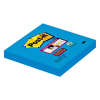 3M Post-it super sticky notes electric blauw 76 x 76 mm (90 vel)