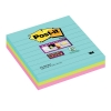 3M Post-it super sticky notes gelijnd Miami 101 x 101 mm (3 pack) 675SSMI 201066