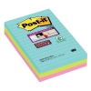 3M Post-it super sticky notes gelijnd Miami 101 x 152 mm (3 pack) 469SSMI 201062