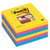 3M Post-it super sticky notes gelijnd Rio 101 x 101 mm (6 pack) 675SSRO 201068