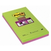 3M Post-it super sticky notes gelijnd kleuren 125 x 200 mm (2 pack) 5845SS 201058