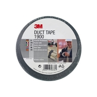 3M duct tape 1900 zwart 50 mm x 50 m 190050B 201460