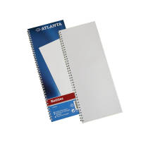 Atlanta notitieboek 330 x 135 mm gelinieerd 70 grams met spiraal (100 vel) 2103012000 203056