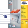 Avery Zweckform 3484-200 universele etiketten wit 105 x 37 mm (3200 etiketten)