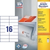 Avery Zweckform 3484 universele etiketten wit 105 x 37 mm (1600 etiketten) 3484 212004
