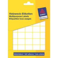 Avery zweckform 3318 multifunctionele etiketten 22 x 18 mm wit (1200 etiketten) 3318 212160