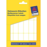 Avery zweckform 3327 multifunctionele etiketten 50 x 19 mm wit (486 etiketten) 3327 212194