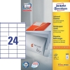 Avery zweckform 3422 universele etiketten 70 x 35 mm wit (2400 etiketten)