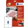 Avery zweckform L4728-20 naambadge insteekkaarten 60 x 90 mm wit (160 naambadges) L4728-20 212590