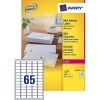 Avery zweckform L7651-100 quickpeel mini adresetiketten 38,1 x 21,2 mm (6500 etiketten)