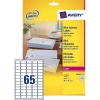 Avery zweckform L7651-25 quickpeel mini adresetiketten 38,1 x 21,2 mm (1625 etiketten) L7651-25 212098