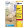 Avery zweckform L7781-25 crystal clear etiketten 45,7 x 25,4 mm (1000 etiketten)