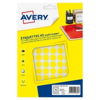 Avery zweckform PET15J markeringspunten Ø 15 mm geel (960 etiketten) AV-PET15J 212715