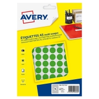 Avery zweckform PET15V markeringspunten Ø 15 mm groen (960 etiketten) AV-PET15V 212716