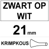 Brother HSe-251 krimpkous tape zwart op wit 21 mm (123inkt huismerk) HSE251C 088891