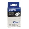 Brother TC-201 tape zwart op wit 12 mm (origineel)