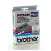 Brother TX-131 'extreme' tape zwart op transparant, glanzend 12 mm (origineel)