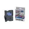 Brother TX-221 'extreme' tape zwart op wit, glanzend 9 mm (origineel)