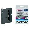 Brother TX-231 'extreme' tape zwart op wit, glanzend 12 mm (origineel)