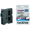 Brother TX-241 'extreme' tape zwart op wit, glanzend 18 mm (origineel)