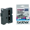 Brother TX-251 'extreme' tape zwart op wit, glanzend 24 mm (origineel)