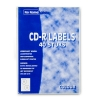 COLOR CD labels GROEN 2 per vel diagonaal (40 etiketten)