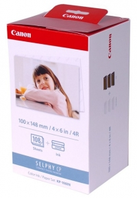 Canon KP-108IP/IN 3 inktcartridges + postcard size papier (origineel) 3115B001AA 018002