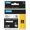 Dymo 1805433 IND Rhino tape permanent polyester zwart op transparant 24 mm (origineel)