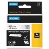 Dymo 1805440 IND Rhino tape permanent polyester zwart op transparant 6 mm (origineel)