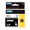 Dymo 622290 IND Rhino tape permanent polyester zwart op transparant 19 mm (origineel)