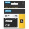 Dymo S0718160 / 18508DMO IND Rhino tape permanent polyester zwart op transparant 9 mm (origineel)