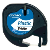Dymo S0721610 / 91201 plastic tape wit 12 mm (origineel) S0721610 088302