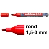 Edding 250 whiteboard marker rood (1,5 - 3 mm rond)