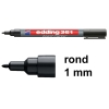 Edding 361 whiteboard marker zwart (1 mm rond)