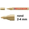 Edding 750 glanslak-marker goud (2 - 4 mm rond)