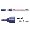 Edding Aanbieding: 10x Edding 8280 securitas uv marker (1,5 - 3 mm rond)  239919