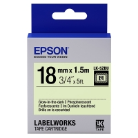 Epson LK-5ZBU glow in the dark tape zwart op neon 18 mm (origineel) C53S655015 083230