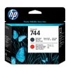 HP 744 (F9J88A) printkop mat zwart en chromatic red (origineel) F9J88A 055102