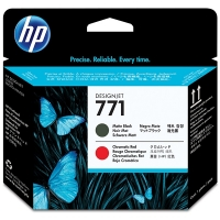 HP 771 (CE017A) printkop mat zwart en chromatic red (origineel) CE017A 044096