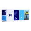 HP 83 (C4941A) UV inktcartridge cyaan (origineel) C4941A 031570