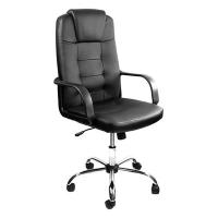 Verstelbare Bureaustoel Zwart.Kangaro Verstelbare Luxe Executive Bureaustoel Zwart Kangaro 123inkt Nl