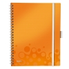 Leitz 4644 WOW be mobile book A4 gelinieerd 80 grams 80 vel oranje metallic 46440044 211856