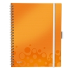 Leitz 4645 WOW be mobile book A4 geruit 80 grams 80 vel oranje metallic  46450044 211861