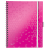 Leitz 4645 WOW be mobile book A4 geruit 80 grams 80 vel roze metallic  46450023 211862
